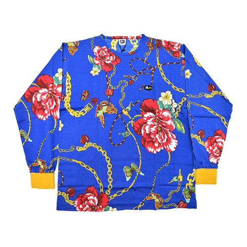 DMD Muracchini Linea Italiana South Africa blue lock and key floral print shirt - DMDTS08LK Full Regular Chains and Floral Print Shirt - Blue Lock and Key Floral Print Shirt