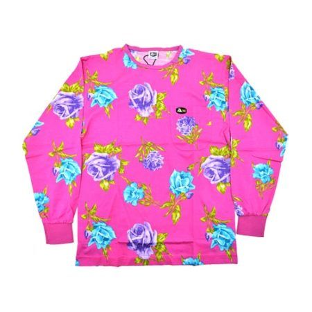 DMDTS08PR Full Regular Pink Rose Print Shirt e1523006178592 dmd shirt full blue rose print pink - DMD Shirt Full Blue Rose Print Pink