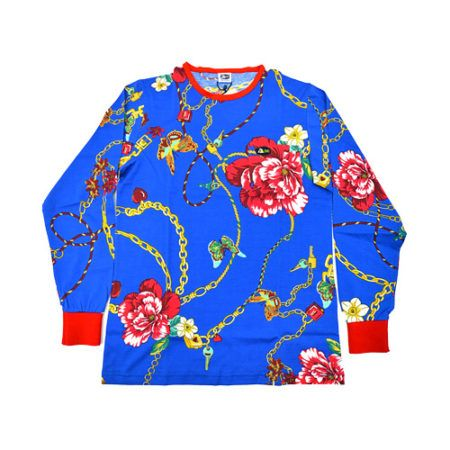 DMD Muracchini Linea Italiana South Africa dmd long sleeve shirt royal blue lock and key print - DMDTS08RLK DMD Long Sleeve Shirt Royal Blue Lock and Key Print e1523007147104 - DMD Long Sleeve Shirt Royal Blue Lock and Key Print
