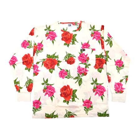 DMDTS08WR Full Regular White Rose Print Shirt e1523006088107 dmd white shirt with a pink and red rose print - DMD White Shirt with a Pink and Red Rose Print