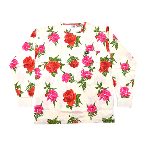 DMD Muracchini Linea Italiana South Africa dmd white shirt with a pink and red rose print - DMDTS08WR Full Regular White Rose Print Shirt - DMD White Shirt with a Pink and Red Rose Print