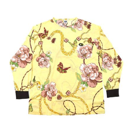 DMD Muracchini Linea Italiana South Africa dmd shirt yellow link and floral print - DMDTS08YLK Full Print Yellow Link and Floral Print Shirt e1523006081902 - DMD Shirt Yellow Link and Floral Print
