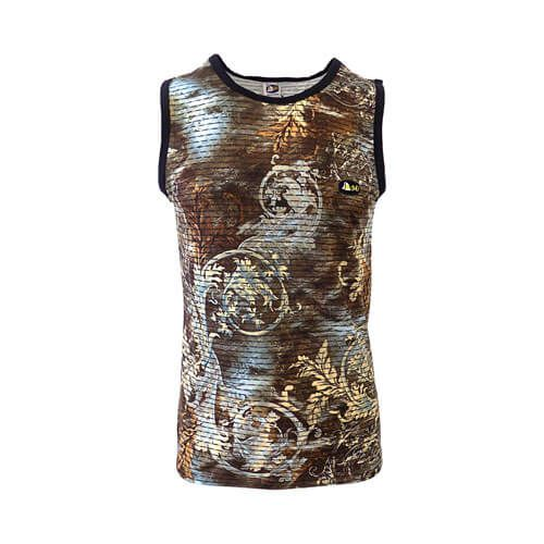 DMDV007BR DMD Vest Brown Print dmd vest - DMD Vest Brown Print