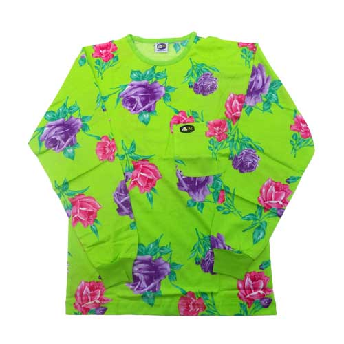 DMD Magogo Classics dmd shirt full regular green floral - DMD Shirt Full Regular Green Floral