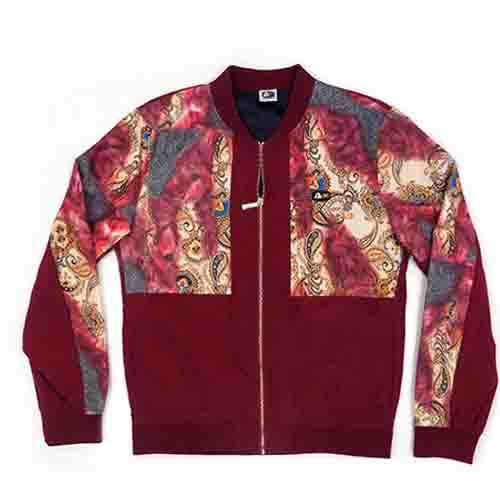 DMD Muracchini Linea Italiana South Africa dmd muracchini - DMD Mens L/S Printed Zip-up Jacket Burgundy DMD Muracchini