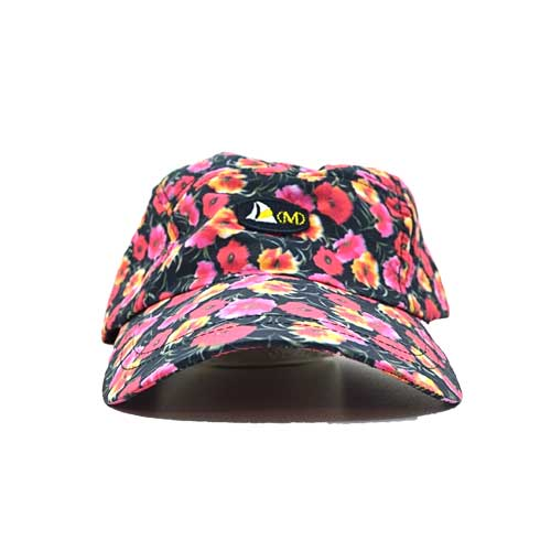 DMDC015BP Mens Printed Nylon Cap Black Poppy mens printed nylon cap black poppy - Mens Printed Nylon Cap Black Poppy DMD Muracchini
