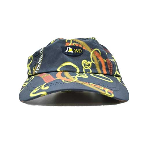 DMDC015CHC Mens Printed Nylon Cap Black Chain mens printed nylon cap black chain - Mens Printed Nylon Cap Black Chain DMD Muracchini
