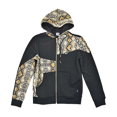 DMD Muracchini Linea Italiana South Africa long sleeve zip through hoody black and snake print dmd muracchini - Long Sleeve Zip Through Hoody Black and Snake Print DMD Muracchini