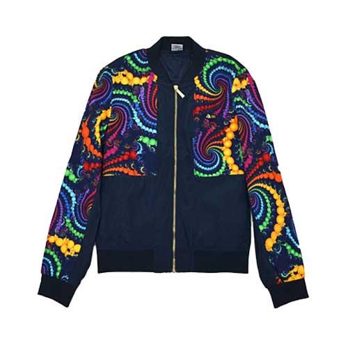 DMD Muracchini Linea Italiana South Africa long sleeve zip through jacket bubble print - Long Sleeve Zip Through Jacket Bubble Print DMD Muracchini