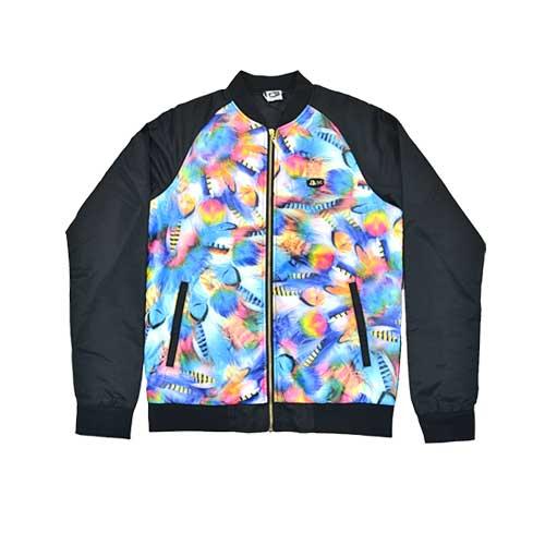 DMD Muracchini Linea Italiana South Africa long sleeve zip through jacket feather print - DMDJ005FE Long SLeeve Zip Through Jacket Feather Print - Long SLeeve Zip Through Jacket Feather Print DMD Muracchini