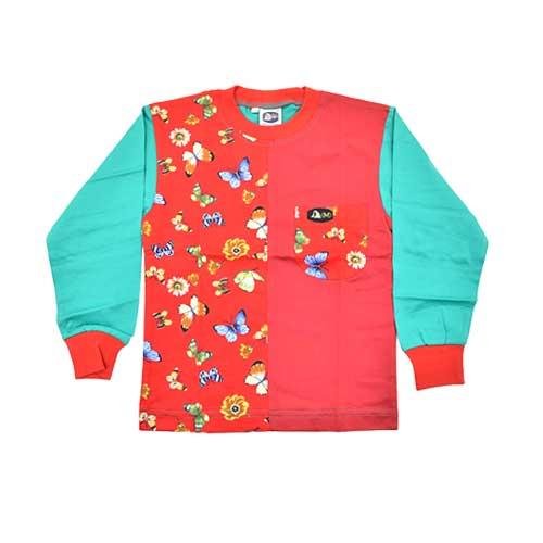 DMD Muracchini Linea Italiana South Africa kids long sleeve tshirt butterfly print red - Kids Long Sleeve Tshirt Butterfly Print Red DMD Muracchini