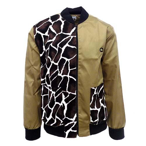 DMD-BUNNY-JACKET-HALF-REG-HALF-PLAIN-DMDJ003GKH dmd bunny khaki jacket - DMD Bunny Khaki Jacket