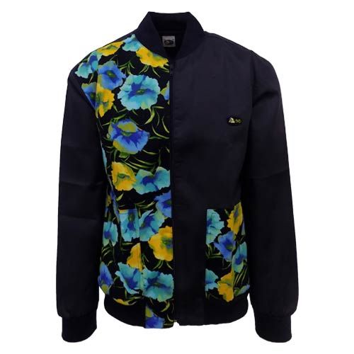DMD-BUNNY-JACKET-DMDJ003NRN dmd bunny navy flower jacket - DMD Bunny Navy Flower Jacket