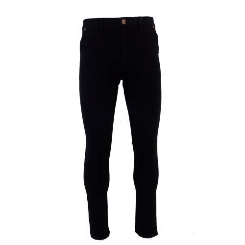 dmd mens slimfit stretch chino black pants - DMD Black Chino