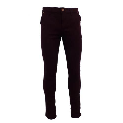 dmd mens slimfit stretch chino black pants - DMD Burgundy Chino