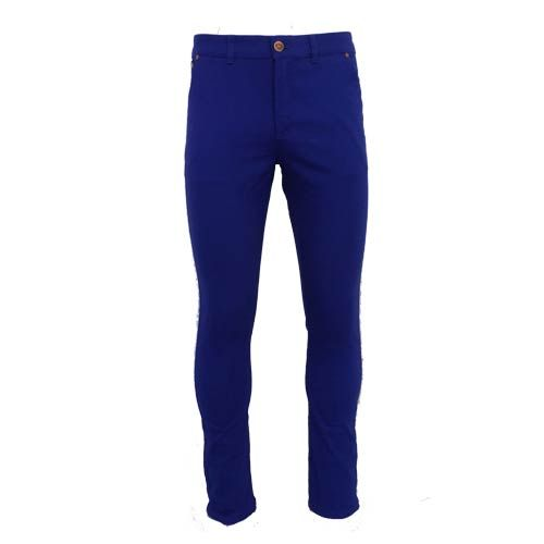 dmd mens slimfit stretch chino black pants - DMD Royal Blue Chino