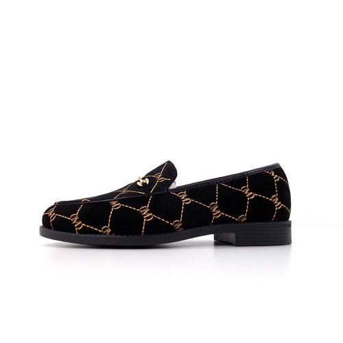 DMDD05XX dmd venice black print suede shoes - DMD Venice Black Print Suede Shoes