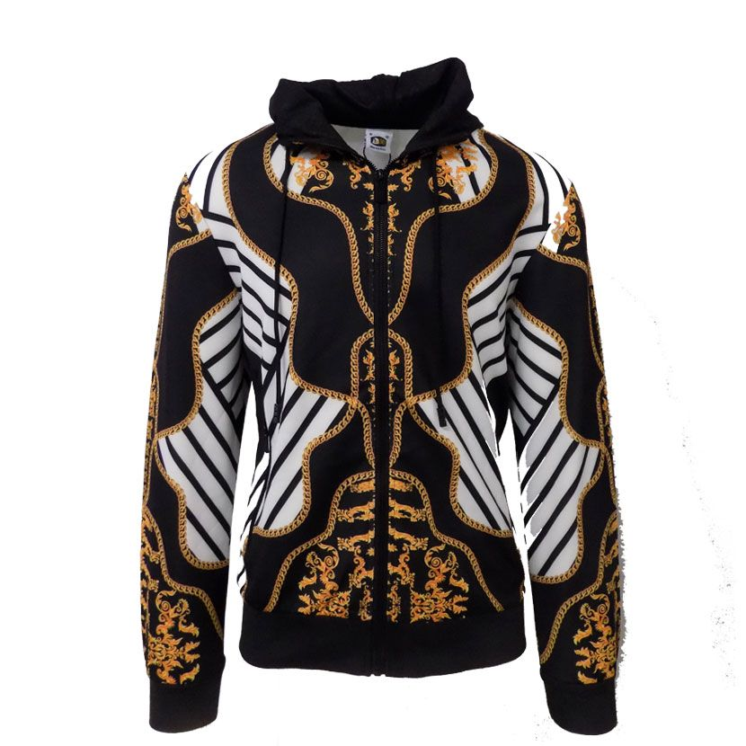 DMD BLACK GOLD WHITE TRACKSUIT  - DMD BLACK GOLD STRIPES TRACK TOP