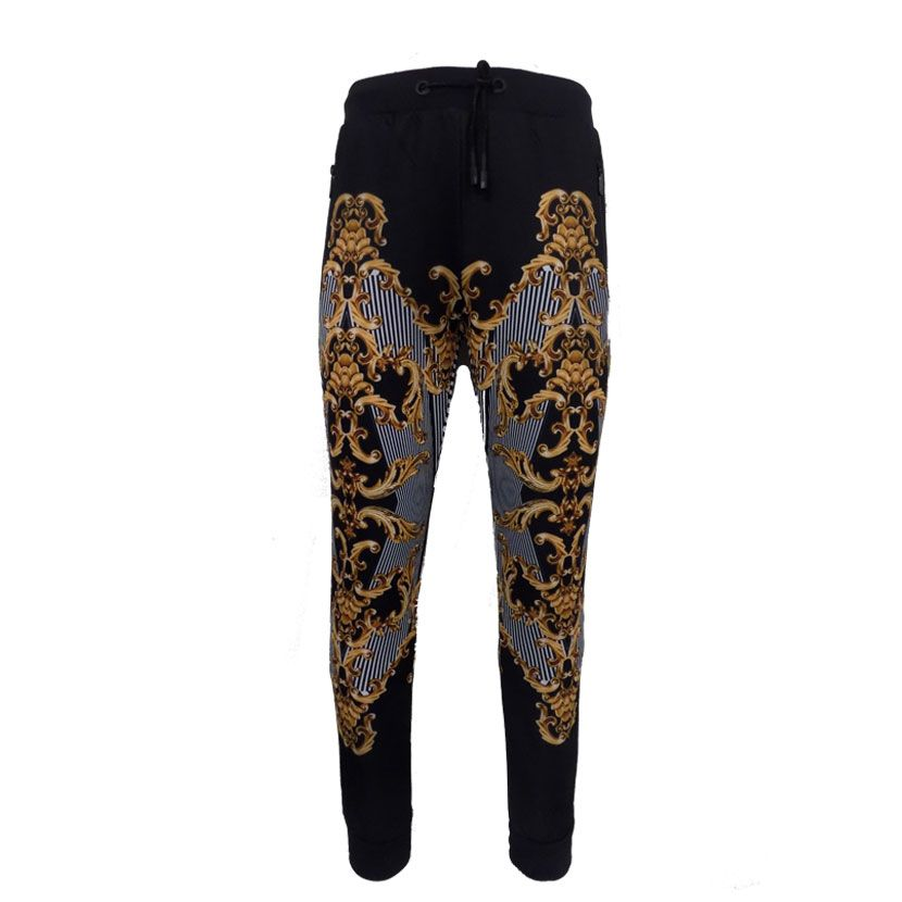 DMD GOLD WHITE STRIPES TRACKPANTS  - DMD BLACK GOLD TRACK PANTS