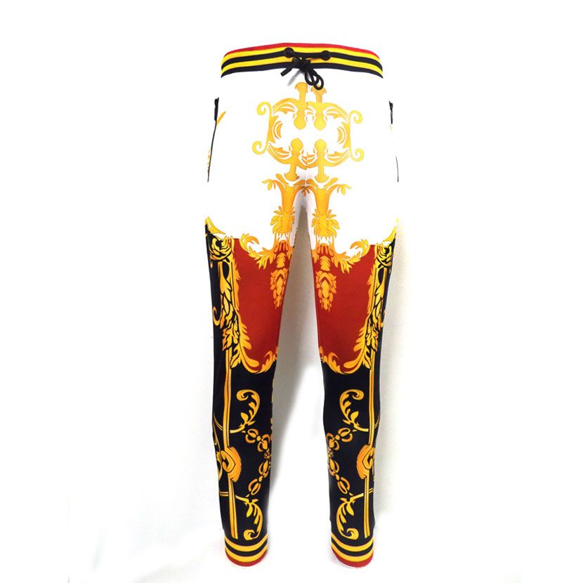 DMD WHITE NAVY GOLD TRACKPANTS  - DMD NAVY RED TRACK PANTS