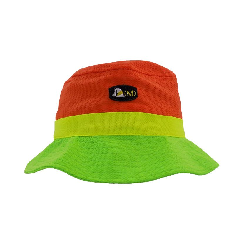 ORANGE GREEN BUCKETHAT
