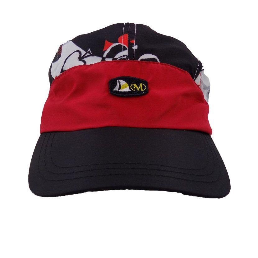 MENS PRINT PLAIN NYLON BLACK ACES CAP