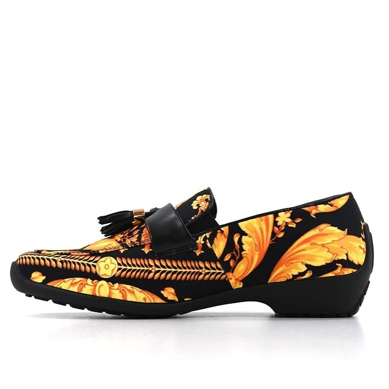 DMD Printed Slip On Plain Vamp Yellow Black V