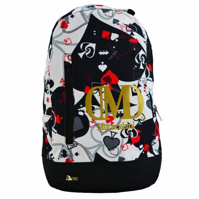 DMDBP01AC DMD Backpack Aces Print Black V1