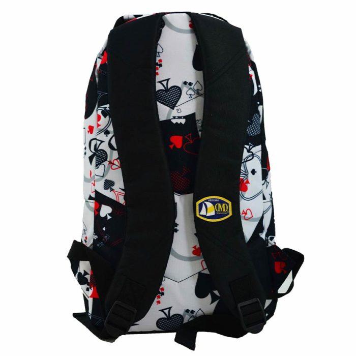 DMDBP01AC DMD Backpack Aces Print Black V3