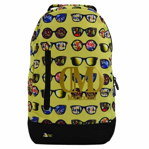 DMDBP01SG DMD Backpack Sunglasses Print Yellow V1