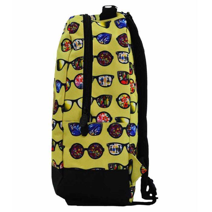 DMDBP01SG DMD Backpack Sunglasses Print Yellow V2