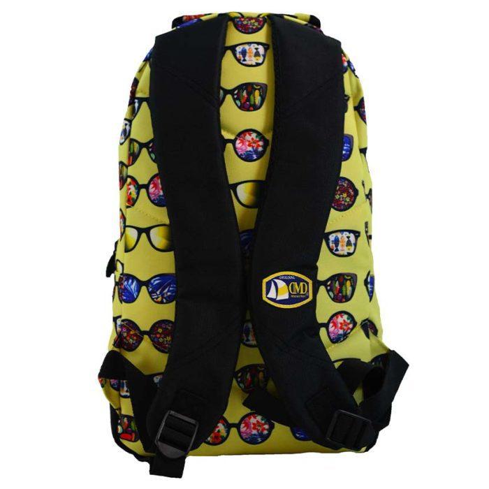 DMDBP01SG DMD Backpack Sunglasses Print Yellow V3