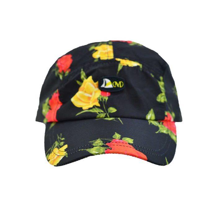 DMDC015BR DMD Printed Nylon Cap Black Roses V1