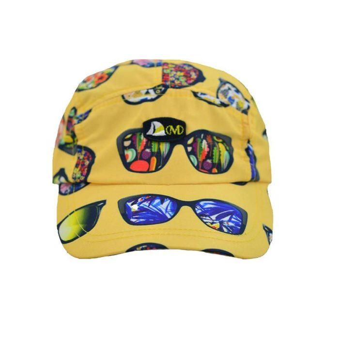 DMDC01SG DMD Boys Nylon Printed Cap Sunglasses Yellow V1