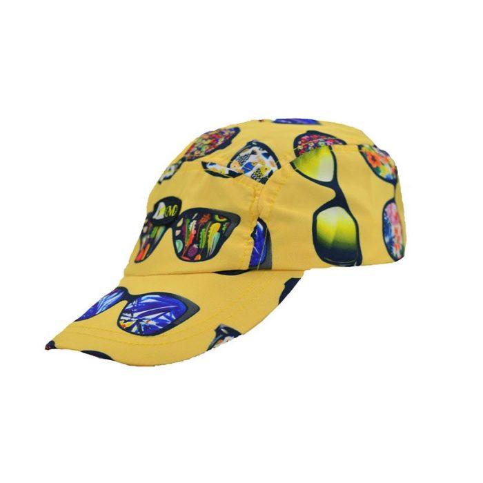 DMDC01SG DMD Boys Nylon Printed Cap Sunglasses Yellow V2
