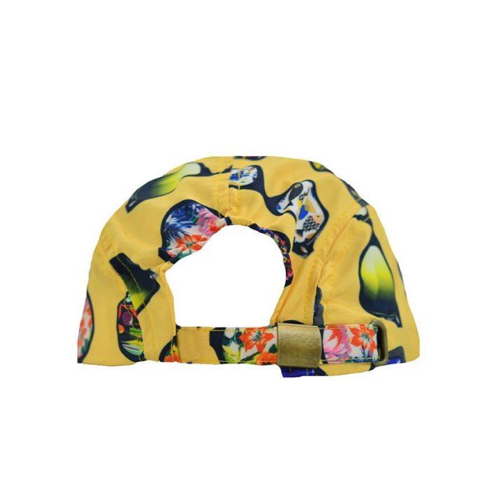 DMDC01SG DMD Boys Nylon Printed Cap Sunglasses Yellow V3
