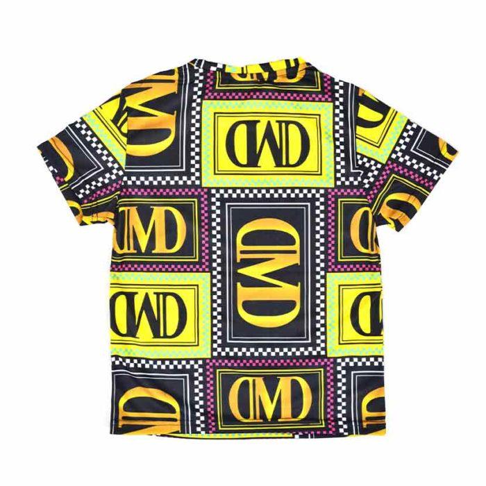 DMDKTS40CP DMD Check Print T Shirt DMDS20 Yellow V2