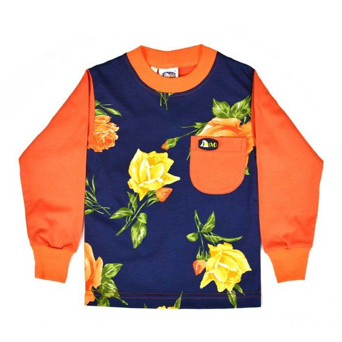 DMDKTS43AS DMD Full Front T Shirt Print Orange V1