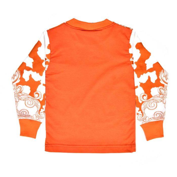 DMDKTS43AS DMD Plain Black T Shirt Orange V2