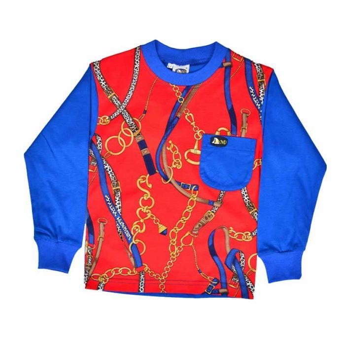 DMDKTS43RC DMD RED CHAIN Full Front T Shirt V1