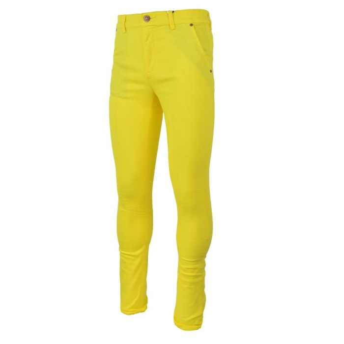 DMDP13LY DMD MENS 5 Pocket Chino Lemon Yellow V2