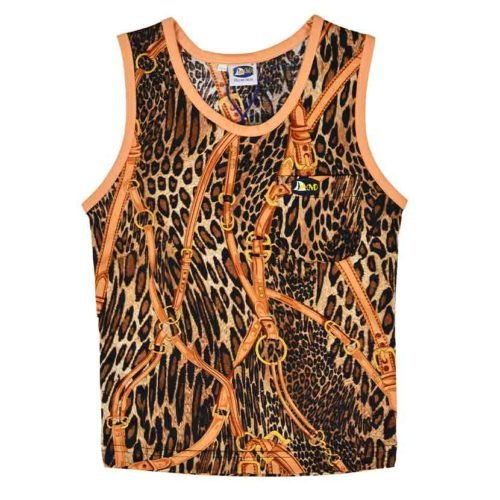 DMDV002RL DMD Kids Vests Rusty Leopard Brown V1