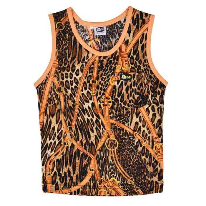 DMDV002RL DMD Kids Vests Rusty Leopard Brown V1