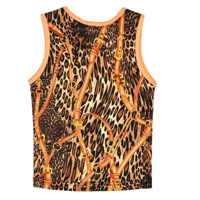 DMDV002RL DMD Kids Vests Rusty Leopard Brown V2