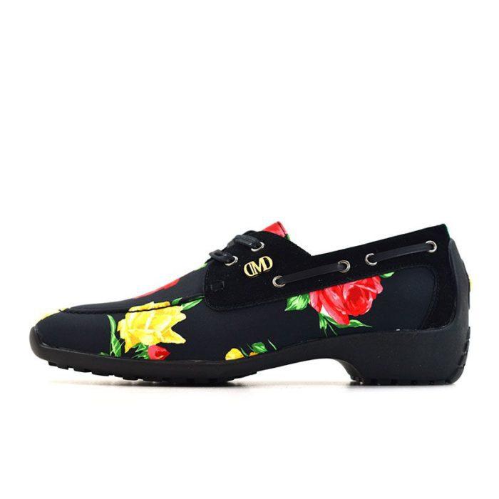 DMDD14BR070 DMD Printed Shoe Suede Black Roses V1