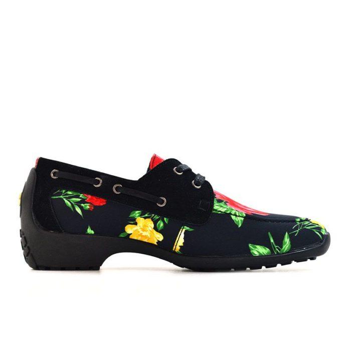 DMDD14BR070 DMD Printed Shoe Suede Black Roses V2