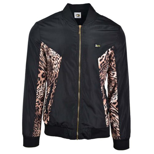 DMDJ15LP DMD Mens Printed Jacket Black Leopard DMDS20 029A V1