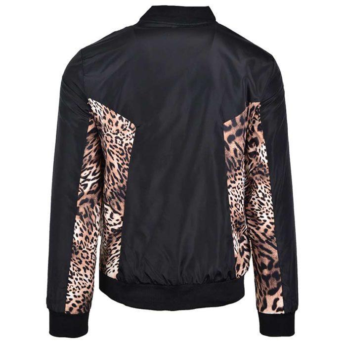 DMDJ15LP DMD Mens Printed Jacket Black Leopard DMDS20 029A V4