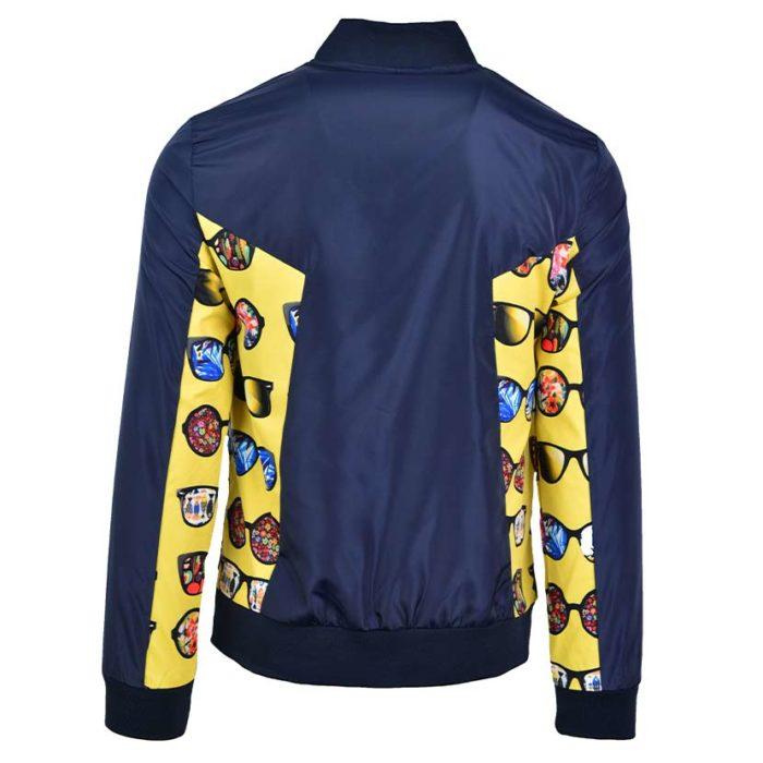 DMDJ15SP DMD Mens Printed Jacket Blue DMDS20 030A V4