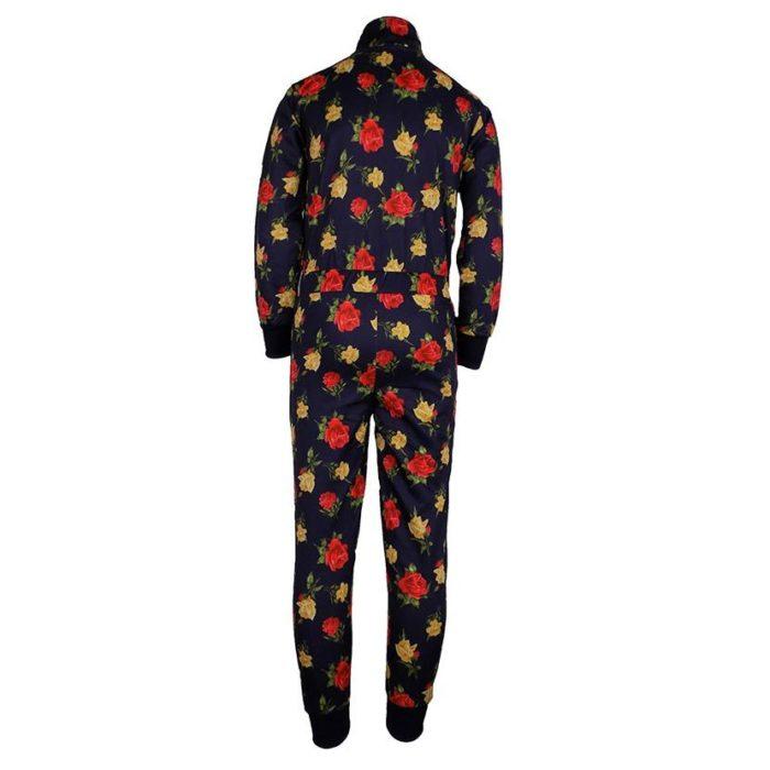 DMDKBS4NV4 DMD Boys Boiler Suit Navy Roses DMDS20 050BB V3